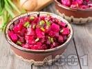 Рецепта Салата с цвекло, картофи и кисели краставички